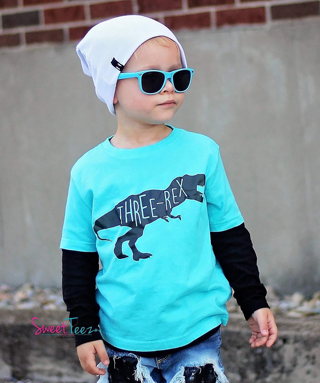 Get Quotations Third Birthday Shirt Three Rex Dinosaur For Boys Or Girls 3rd