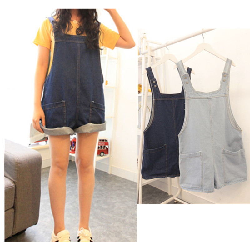 da209802c31b Get Quotations · Jumpsuits Monos For Women Jumpsuit Women 2015 Shorts Girl  Washed Loose Flanging Jeans Denim Casual Romper