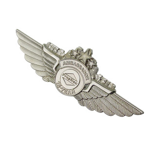 Custom Logo Zinc alloy metal Pilot badges/Airlines wings/Pilot wings