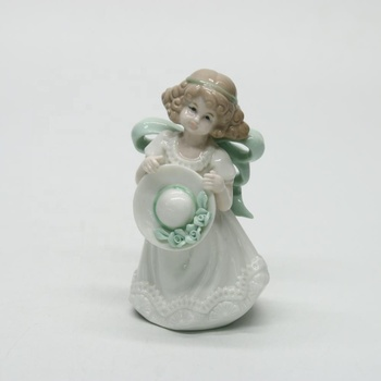 Porcelain flower fairy ceramic standing angle figurines