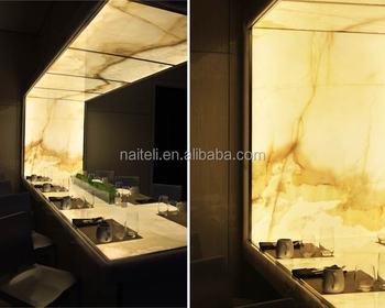 Artificial Translucent Backlit Resin Marble Alabaster Top Dining Table Design Designs