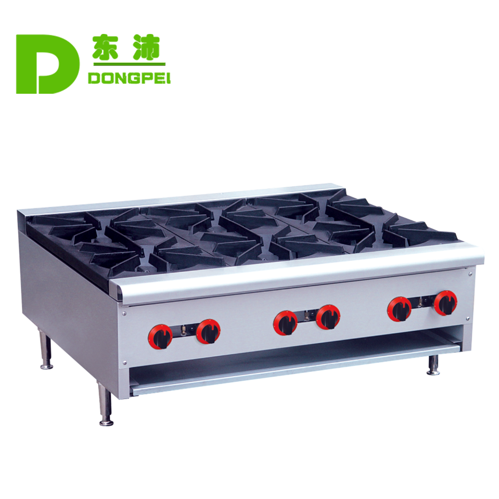 Restaurant Equipment with 6 stove gas burner,Stainless steel cooking range gas stove with oven machine
