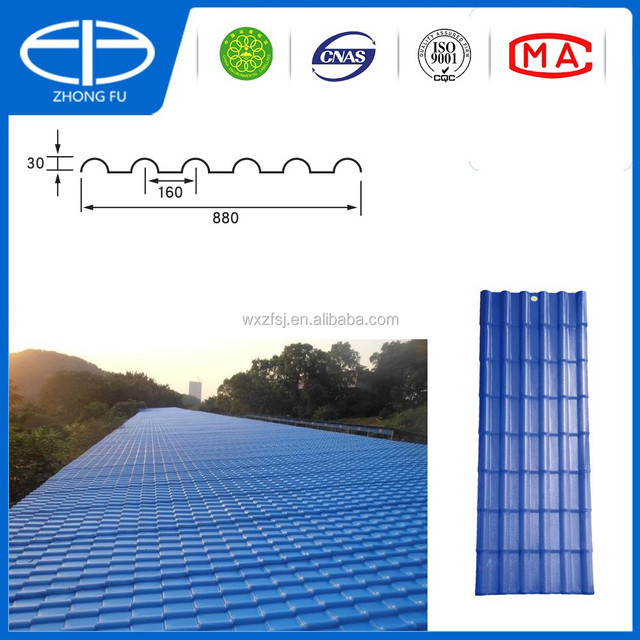 Asa Resin PVC Roofing Material For Residential House