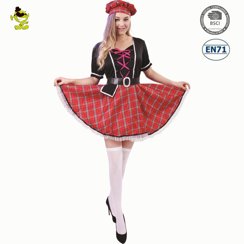 scottish girl costume womens fancy dress outfit costumes for cosplay performance - Scottish Girl Halloween Costume
