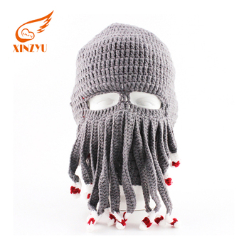High Quality Custom Warm Knitted Balaclava Winter Hat With Funny