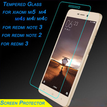 Ultra-thin 2.5D 9H Tempered Glass Screen Protector HD Anti Shatter Protective Film for Xiaomi 2 3 4 mi4 Redmi 1S 2 2S Note2