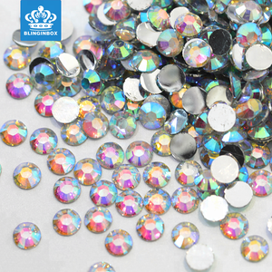 Factory wholesale high quality crystal AB color plastic 4mm round faceted resin stone