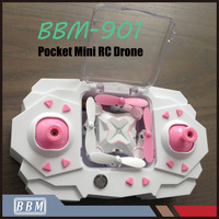 901 RC Hobby Wholesale 4CH Toys Foldable Candy Color Mini Drone