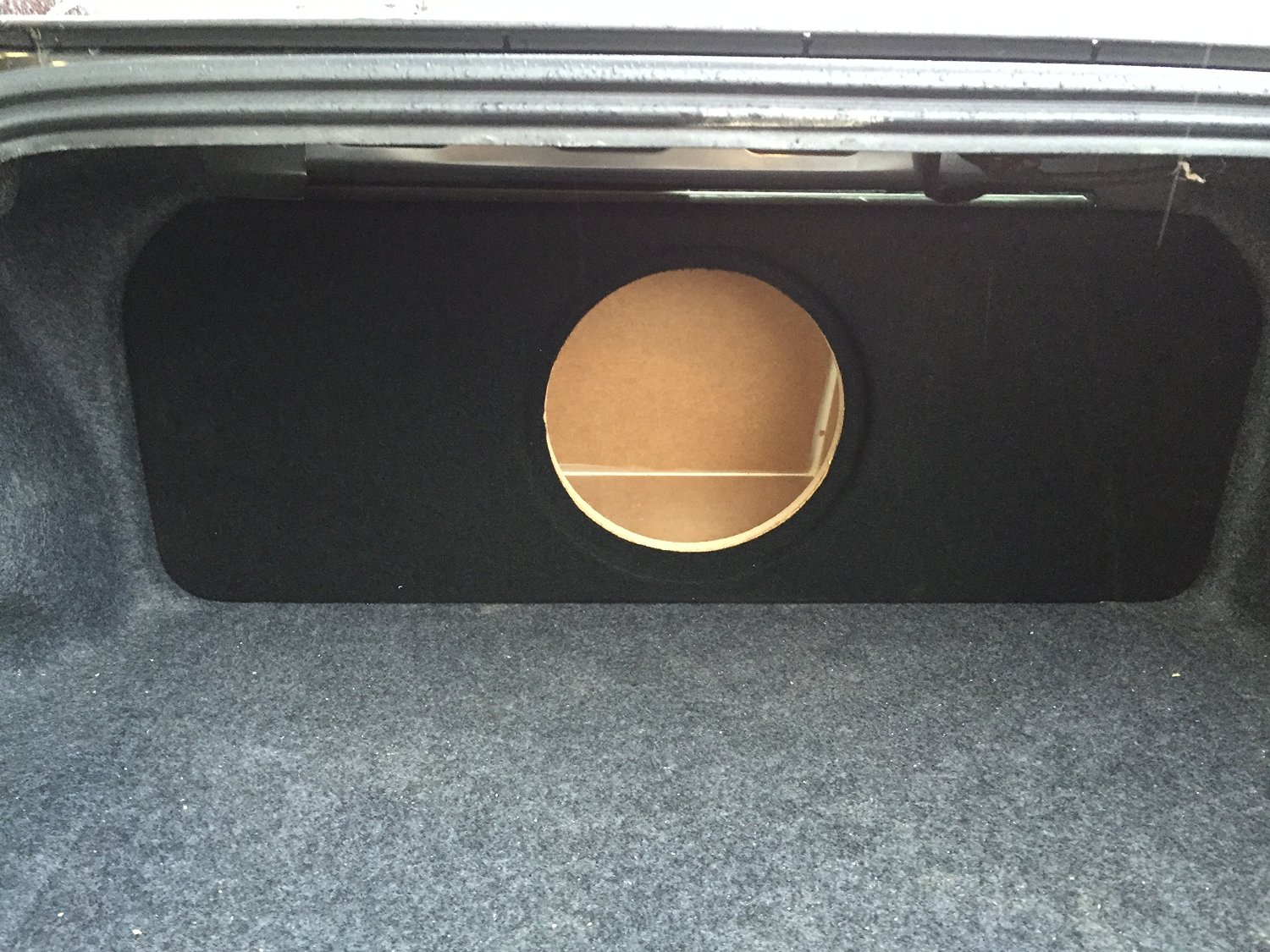"Zenclosures 2015-2016 Mustang 1-10"" Subwoofer Box W/recessed Mounting Holes, Rear Fire - BLACK, Version 2"