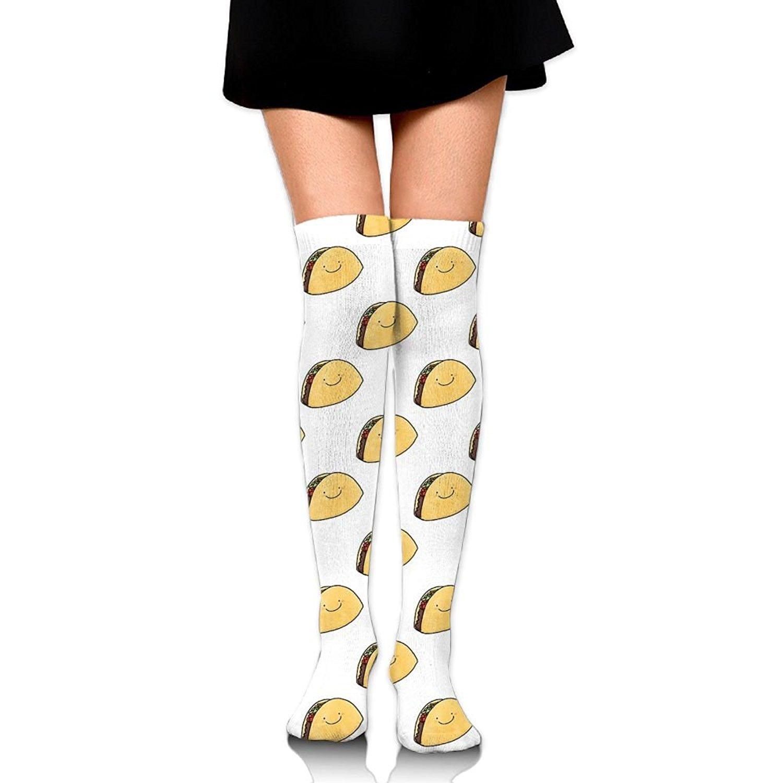 Zaqxsw Taco Food Women Vintage Thigh High Socks Long Socks For Girls