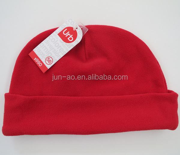 Solid Color Custom Fleece Beanie Hat Pattern Polar Fleece Beanie ... c3985de01dc