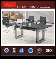 Fashional elegant cheap bow front glass executive desk