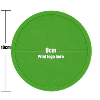 Promotional High Quality Stand Size Silicone Drink Cup Coaster Custom Logo Rubber Coaster