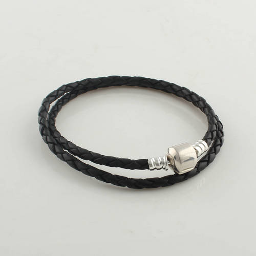 Pandora Mens Jewelry: 925 Sterling Silver Jewelry Black Starter Bracelet