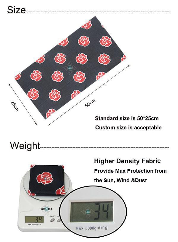 Stretchy Sublimation Printing Multifunctional Cooling Seamless Neck Tube Bandana