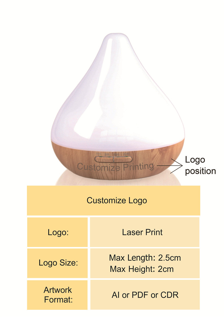 Guoxin pureness type 300ml commercial ultrasonic electric aroma diffuser