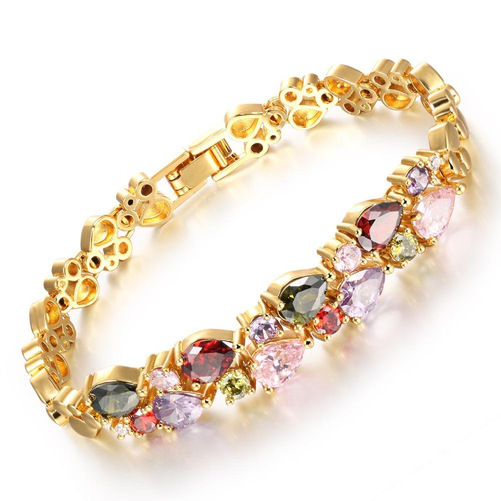 2016 diseños de tendencia cobre accesorio de la joyería de oro blanco y oro 18 k