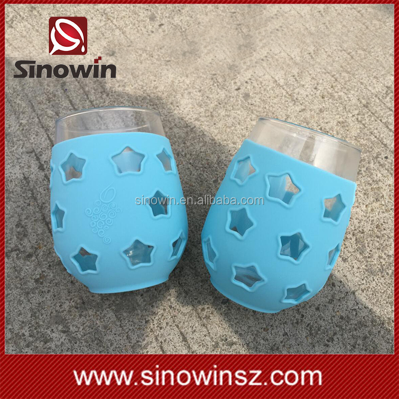 Top Selling Silicone Sleeve + Wine Glass Drink Cup
