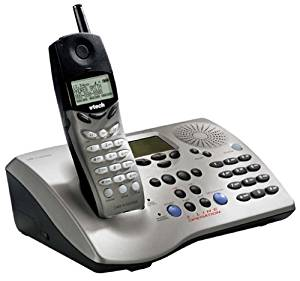 VTech 20-2481 2.4 GHz DSS 2-Line Expandable Cordless Phone with Digital Answering System and Caller ID (Silver and Black)