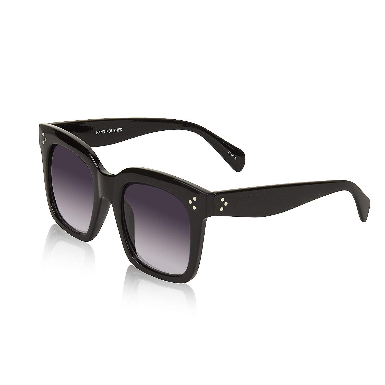 4bd928c330 Get Quotations · Square Sunglasses For Women Oversized Retro Vintage Sunglasses  UV400 Protection