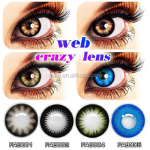 wholesale big size eyewear black edge shinning color contact lens/eye contacts