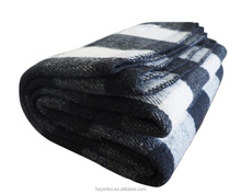 Farmhouse Collection Checkered Wool Blanket