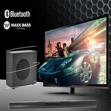 "2.1 ALTOPARLANTI SURROUND, SOTTILE SOUND BAR ALTOPARLANTE CON 6.5 ""WIRED SUBWOOFER, AUX/RCA/BLUETOOTH <span class=keywords><strong>SISTEMA</strong></span> <span class=keywords><strong>HOME</strong></span> THEATRE"