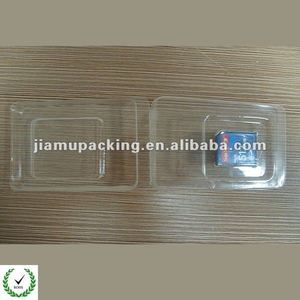 Clear PVC plastic box for memory card packing