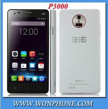 5INCH Original Elephone P3000 Smartphone android 4.4 4G LTE Quad Core MTK6732, White color