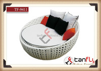TF-9411 white wicker Sun Chair,Patio and Lawn Lounge Chair to Enhance Your Outdoor Tanning Time