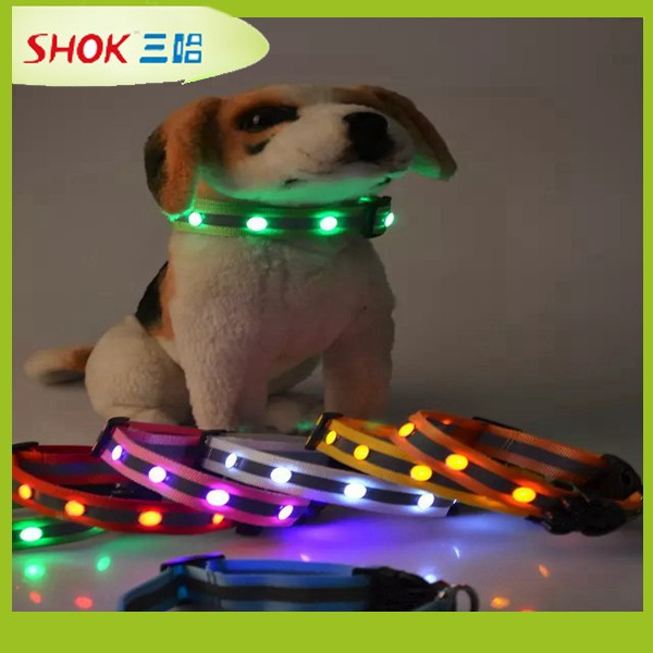 Remote Control LED Flashing Dog Collar,Nylon Dog Collor