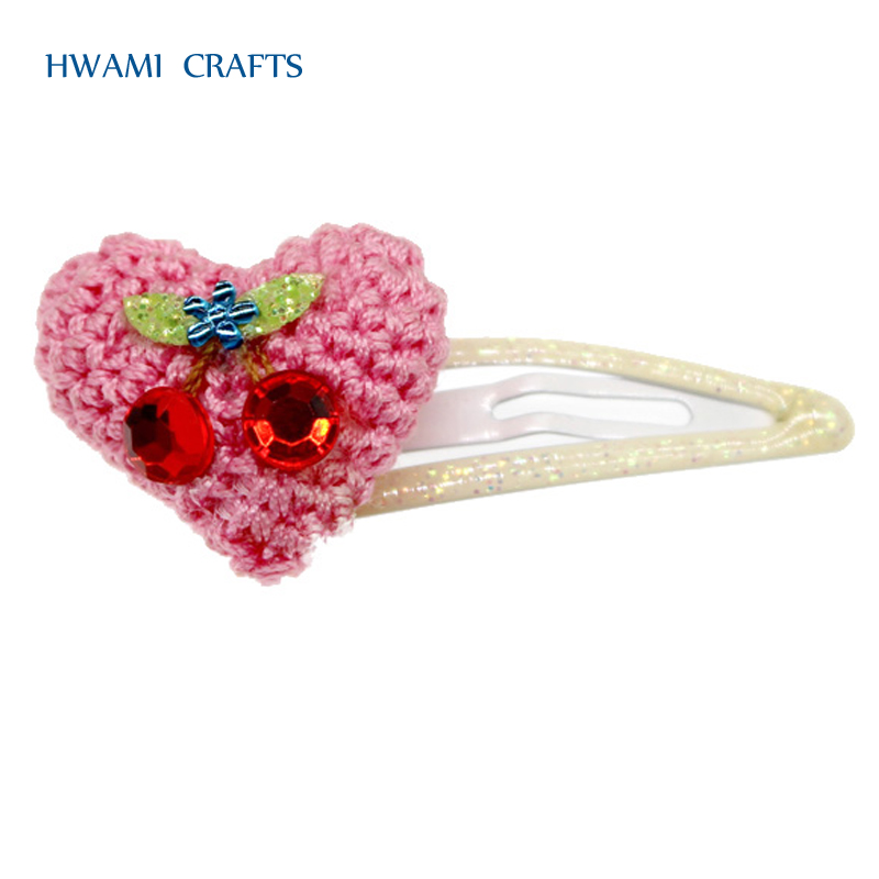 Hot sale Baby Girls Hair Clips Lovely Heart shape Hairpins P-358