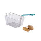 Stainless Steel Rectangular Deep Fryer Basket Chicken Frying Basket