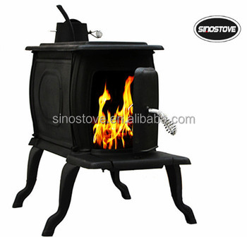 Wood Burning Cast Iron Stove Indoor Outdoor Fireplace