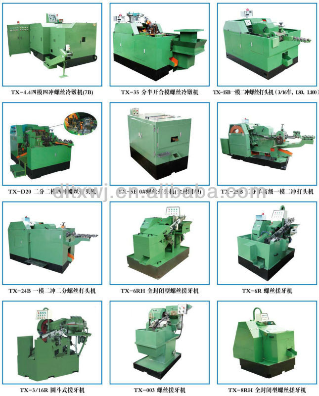 TX-15B-C Automatic High Speed 1-Die 2-Blow Cold Heading Nut Bolt Screw Making Machines Price