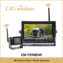 Easy install 7 inch wireless parking assist system for caravan