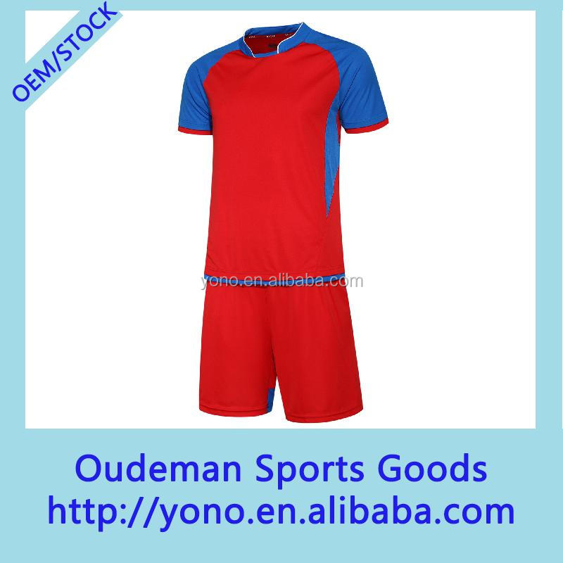 Wholesale full set custom man's soccer jersey uniform