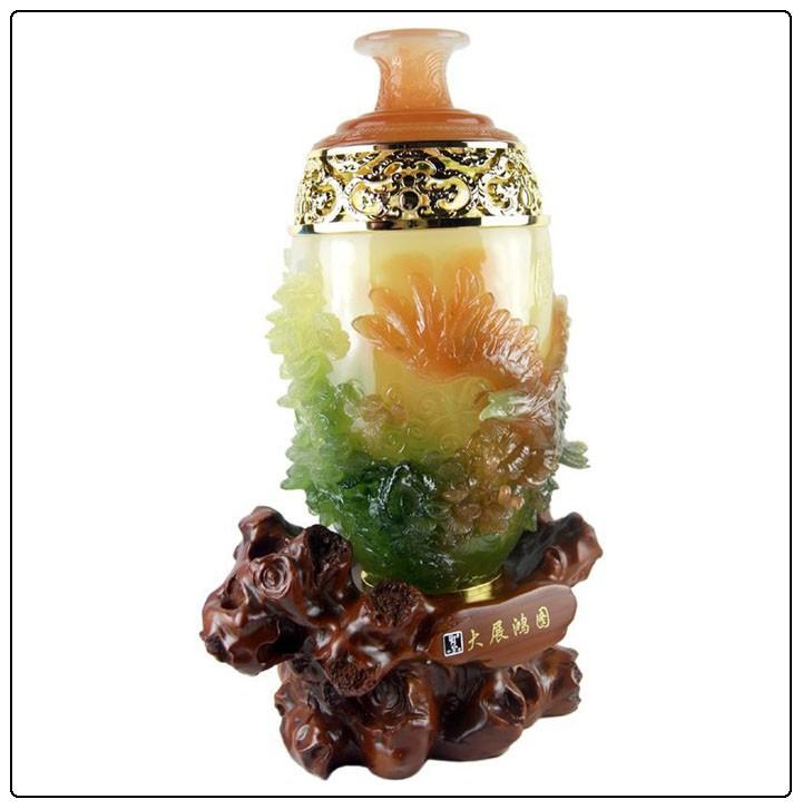 Groot formaat adelaar jade hars vazen fengshui vaas goed voor huisdecoratie hars ambachten - Afbeelding van huisdecoratie ...