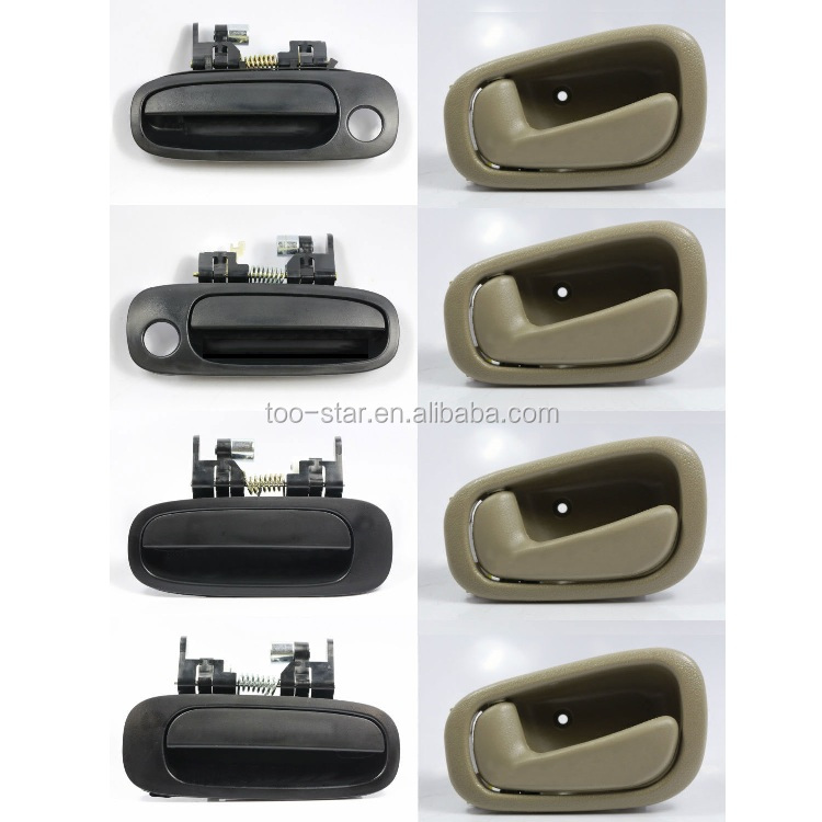 For Toyota Corolla 98-02 Non-Painted /& Tan Outside /& Inside Door Handle 8PCS