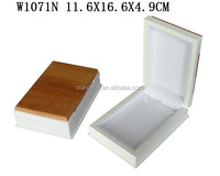 W1071N High End White Glossy Spray Painting Wooden Jewelry Necklace Box