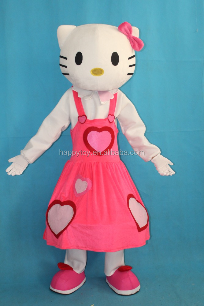 HI CE hot sale plush hello kitty cat mascot costume for adult
