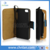 Genuine leather case for iphone 5 book wallet cover 4s s 5s handmade 5c new