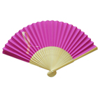 Customized Logo Printed Wedding Craft paper Hand Fan
