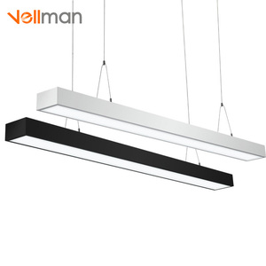 Acrylic line pendant lightg fixtures chandeliers hanging lamp LED commercial office pendant lighting