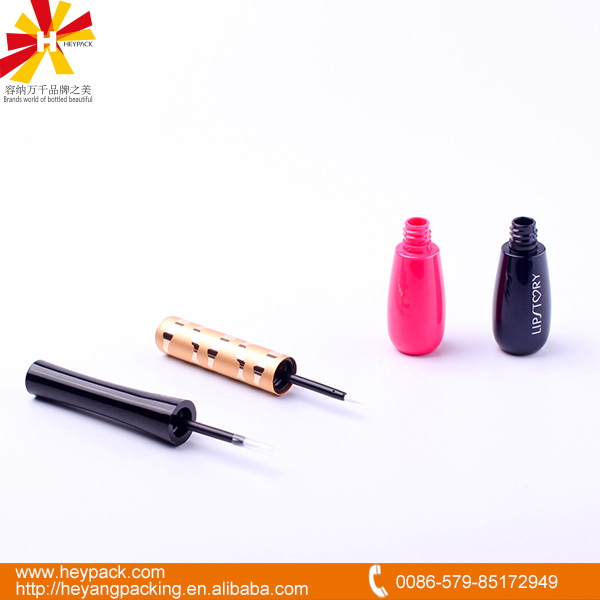 red color cosmetic case for plastic eyeliner bottle