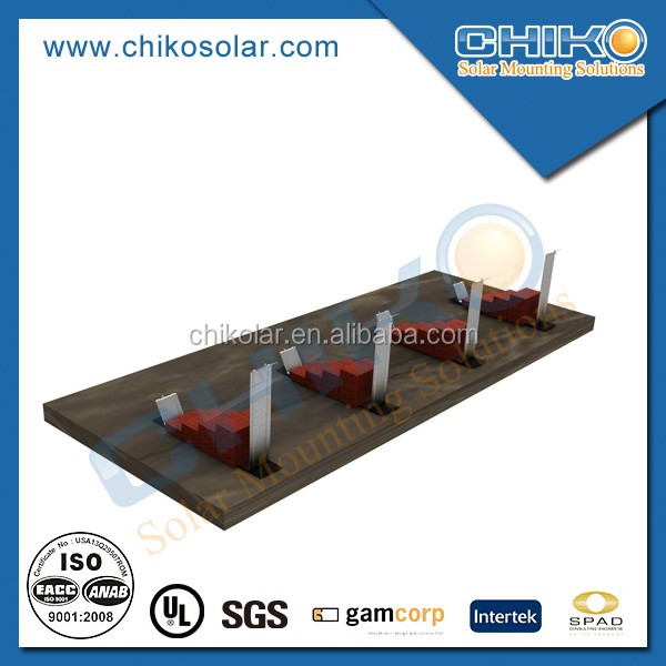 Ballast Ground Stainless Steel Solar Panel Racking Kit