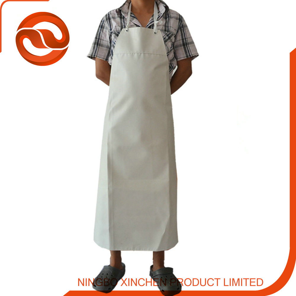 factory provide white rubber working apron