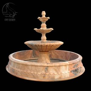 Customized Design Natural Stone Outdoor Large Marble Stone Water Fountains For Garden