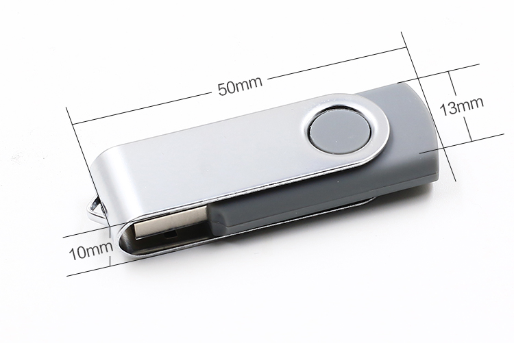 Swivel Pen Drive USB 2.0 Custom Logo 64 GB USB Flash Drive, USB Stick for Coopration