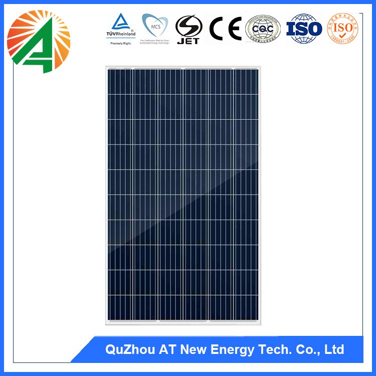 Alibaba Photovoltaic Transparent Thin Film Polycrystal 270W Solar Power Panel On Roof